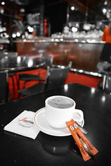 Segafredo Coffee (~Jek~) Tags: aus australia australiancapitalterritory canberra geo:lat=3525191441 geo:lon=14912438393 geotagged tilleysdevinecafeandgallery segafredo tilleys coffee selectivecolour selectivecolor red
