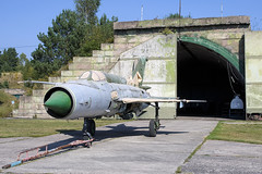 Unidentified MiG-21 at Finow (atg3v) Tags: mikoyangurevich mig mig21 fishbed mikoyan gurevich finow berlin germany luftfahrtmuseumfinowfurt preserved fighter bunker
