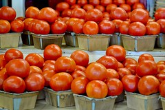Tomatoes Galore (bmasdeu) Tags: produce vegetables tomato red fruitstand food florida homegrown