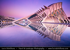 Spain - Valencia - City of Arts and Sciences at Sunrise (© Lucie Debelkova / www.luciedebelkova.com) Tags: valencia spain spanish españa kingdomofspain reinodeespaña southwesterneurope country europe europeanunion eu es wonderful fantastic awesome stunning beautiful breathtaking incredible lovely nice best perfect world exploration trip vacation holiday place destination location journey tour touring tourism tourist travel traveling visit visiting sight sightseeing wwwluciedebelkovacom luciedebelkova luciedebelkovaphotography photography photo landmark dusk bluehour twilight night