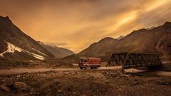 Natioanl Highways 1 (NH1) - Kargil, India (Kartik Kumar S) Tags: bridge sunset india mountains river valley transportation roads kashmir bro himalayas indus kargil nh1 nationalhighway borderroadorganisation