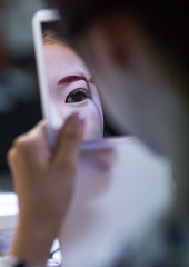 16 Years old maiko called chikasaya during a make up session, Kansai region, Kyoto, Japan (Eric Lafforgue) Tags: people woman white reflection cute beautiful beauty face japan vertical closeup female hair asian japanese mirror clothing eyes kyoto colorful asia pretty feminine painted traditional young culture makeup style grace indoors teen maiko geisha teenager kimono gion tradition oriental youngadult solitary hairstyle youngwoman apprentice oneperson elaborate feminity kanzashi 1617years oneyoungwomanonly 1people kansairegion japaneseethnicity colourpicture japan161914 chikasaya komayaokiya