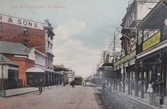 High Street, Maitland, N.S.W. (maitland.city library) Tags: maitland newsouthwales high street cappers kerrs tram colour postcards looking east