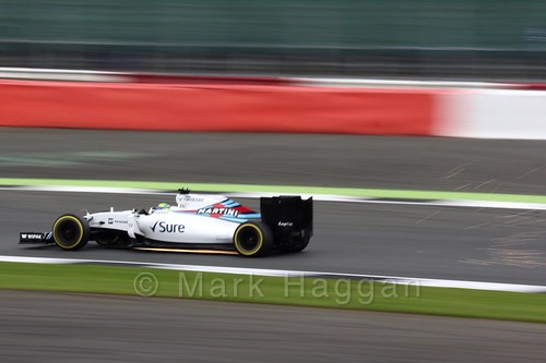 Felipe Massa in his Williams during qualifying at the 2016 British Grand Prix
