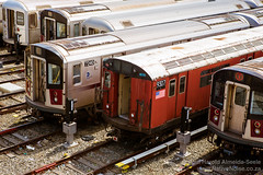 Subway Trains at Mets-Willets Point Station, New York