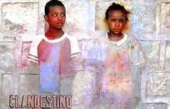 clandestino (yrotori2) Tags: africa portrait texture face collage photoshop colore african photoshopped persone afrika ritratto primopiano visage afrique faccia volto scritte clandestino evanescenza