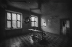 Devil. (Tomasz Aulich) Tags: abandonedhospital hospital devil evil ring lamp window horror poland nikon decay operatingtable fear apparition ghost narcosis surrealism psychical awe dread psychic