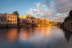 Ouse Reflections (matrobinsonphoto) Tags: york light sunset sky sun sunlight reflection river landscape outdoors golden big long exposure 10 yorkshire north stop filter hour nd ten ouse density stopper neutral