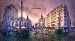 Antwerp sunset (bingrens) Tags: hdr antwerp meir color rain photoshop sunset