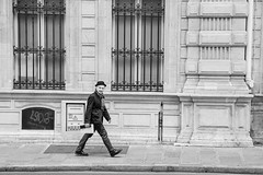 Going somewhere (mariefrance2010) Tags: marais paris lines man people sidewalk streetphotography windows