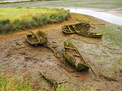 Ni barca ni pescador ...(Neither boat or fisherman) .... (mentaymenta) Tags: naufragio abandono musgo deterioro chalupa barca