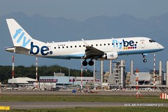 G-FBJA Flybe Embraer ERJ-175STD (ERJ-170-200) (Nick Air Photography) Tags: img9987 gfbjaflybeembraererj175stderj170200 embraer milanomalpensa milanmxp canoneos760d landing travel plane flybe spotting nickairphotography