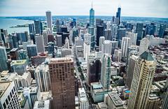 Chicago Downtown (Stevettran) Tags: cityscape sunset vin retro sandunes fireworks green blue sky lake landscape