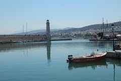 Rethymnon (Crete) - lighthouse (alkanast) Tags: greece crete rethymno lighthouse     water    harbour venezian  boat