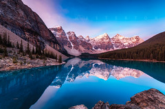 Moraine Lake (scott masterton) Tags: alberta banffnationalpark canada rockies morainelake mountains reflection sunrise exif:aperture=13 geocountry exif:make=pentax exif:lens=sigmaortamronlens camera:model=pentaxk30 camera:make=pentax geostate geocity geo:lon=116179475 exif:model=pentaxk30 exif:focallength=10mm geolocation geo:lat=51327072222222 exif:isospeed=100