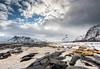 "the church on the beach (Federico ""Jäger"" Serafini) Tags: norvegia lofoten ghiaccio rocce rocks norway aurora boreale northern light clouds nuvole sea spiaggia long exposure"