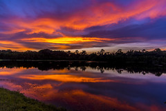 Rainbow Pallete Sunset (J Swanstrom (Check out my albums)) Tags: jswanstromphotography nikon d750 sunset sky clouds rainbow red orange yellow green blue purple relax serene lake pond reflection peaceful savannah