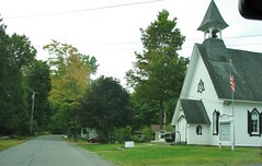 OLD CHURCH ON MAIN STREET (richie 59) Tags: ulstercountyny ulstercounty newyorkstate newyork unitedstates autumn trees townofesopusny townofesopus mainstreet richie59 stremyny stremy outside weekday fall 2016 thursday sep2016 sep292016 hamlet church oldchurch