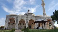 Muradiye Camii (Mosque), Edirne (besikt_asli) Tags: islam islamic art architect mosque ottoman edirne adrianapolis capital mevlevihane whirlingdervishes 2murat muradiye calligraphy allah h tiles mevlana clouds sky blue minaret