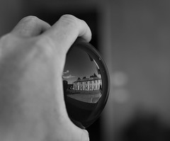sphere + hand + reflection (Stefano-Bosso) Tags: blackandwhite bw reflection monochrome canon ball mono blackwhite hand noiretblanc bianconero btw sfera blackwhitephotos stefanobosso