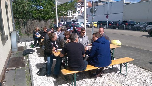 Mittagessen beim BarCamp Rhein-Neckar