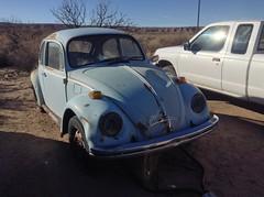 Bug Wreckage (DJ20218x) Tags: old blue broken bug volkswagen rust desert beetle amateur wrecked
