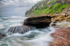 Bungan Beach (Gilbs2008) Tags: longexposure morning seascape beach water landscapes waves cloudy australia nsw bungan bunganbeach