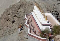 stupas at thiksay monastery, ladakh (thupstan_rin) Tags: stupa buddhism spirituality himalaya jk ladakh northindia tibetanbuddhism littletibet indusvalley incredibleindia thelastshangrila thelastparadise thebrokenmoonland highestplateau