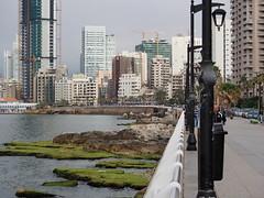 Beiruts corniche (seaside promenade)