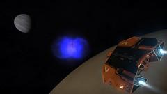 CD-26 1339 between moon and planet (CMDR Pete) Tags: game screenshot dangerous space elite scifi 12 sim elitedangerous