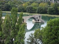 France (Avignon)  The surviving four arches of a famous medieval bridge (ustung) Tags: bridge france architecture river landscape medieval avignon