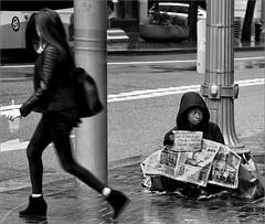 Passive Panhandler (RiverBearPhoto) Tags: poverty street people oregon portland or
