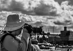 """""""Photo mission"""" - Street Photography (Terje Helberg Photography) Tags: street camera city travel summer urban blackandwhite bw monochrome hat norway canon town candid citylife streetphotography samsung tourist tourists photograph bergen bryggen bnw tourisme visitnorway pothographer nx1000 visitbergen"""
