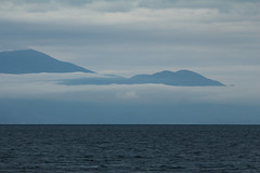 Gulf of Patras (Jens Goos) Tags: blue sea mist mountains water clouds contrast greece mysterious patras