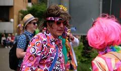 HAMBURG - WHO THE FUCK IS ALICE? (Punxsutawneyphil) Tags: europe europa germany alemania germania deutschland hamburg norddeutschland hansestadt hanseatic stadt city urban schlagermove schlager germanschlager festival fest party umzug parade leute people menschen kostm kostume disguise verkleidung flowerpower wig wigs percke stpauli pink haar haare hair hippie 70ies 1970er seventies 70er