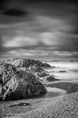 Long exposure of a shingle beach and rocks (NeilAlexanderD) Tags: longexposure seascape water wales europe waves cloudy unitedkingdom noone nobody nopeople cloudcover irishsea anglesey seawater isleofanglesey rhosneigr