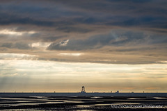 Building a windfarm (*Richard Cooper *) Tags: sunset sea wind windfarm renewable wallasey wirral irishsea burbo leasowebay mersesyide