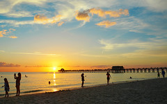 These Summer Days... (DigitalLUX) Tags: sunset afternoon dusk sky beach sand pier florida