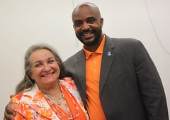 Hamtramck School Board Member Hedy Shulgon and State Senator Bert Johnson (profkaren) Tags: hamtramck schoolboard bertjohnson statesenator