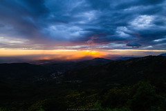 Sunset from Monte Guadagnolo (stefano.nardi) Tags: camera blue light sunset red summer sky orange sun colors beautiful beauty yellow clouds composition lens landscape nikon like vision visual paesaggio sunnyday cameralens samyang d3100 flicktravelaward