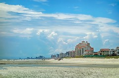 Myrtle Beach (shannon4462) Tags: ocean vacation sky beach sc skyline clouds buildings landscape myrtlebeach sand sony southcarolina atlantic condo rx100