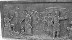 Wojtek the bear 05 (byronv2) Tags: wojtek bear statue sculpture army military worldwartwo secondworldwar wwii ww2 history allanbeattieherriot poland polish war memorial warmemorial blackandwhite blackwhite bw monochrome plaque frieze relief
