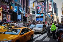 """New York, NY_big city of dreams..."" (Ken B Gray) Tags: nyc vacation ny newyork colors yellow manhattan cab taxi tourists capitol timessquare jpeg bigapple crowds vibe 6d primelens 40mmstmpancake"