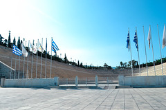 Modernity (whitneypoole) Tags: panathenaic stadium kallimarmaro multipurposestadiumathens greece marble games olympics herodes atticus  athna attica first modern 1896