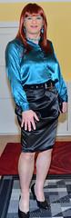 Birgit022453 (Birgit Bach) Tags: rock skirt blouse satin bluse