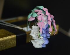 Extra hagi kikyo bellflower bush clover kanzsash (Bright Wish Kanzashi) Tags: kanzashi tsumamizaiku bellflower bushclover