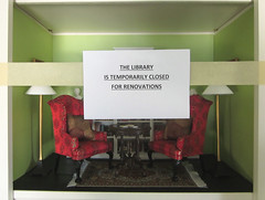 My Dolls Are Not Happy (MurderWithMirrors) Tags: library miniature books miniaturebooks chairs lamps mwm