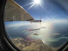 Solar Impulse flying to Abu Dhabi over the Arabic Gulf (Solar Impulse) Tags: solar impulse landing abu dhabi united arab emirates