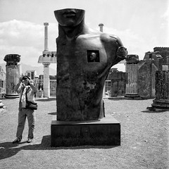 Always a photographer ..... (stefanobiserni) Tags: mamiya 6 fuji acros street analogue film pompei campania italia 6x6 medium format epson 4990 analogica analogico streetart