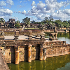 Angkor Wat Dock (gecko47) Tags: steps dock stone causeway angkorwat siemreap cambodia ancientkhmerarchitecture archaeology restoration tourism landscape